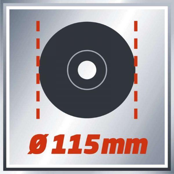 EINHELL DISCO SMERIGLIATRICE ANGOLARE TC-AG 115